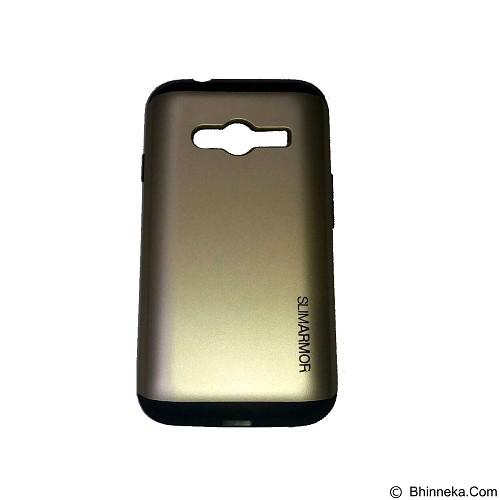 SPIGEN Slim Armor Leather/Silicon/Metal Samsung Galaxy Grand Prime - Gold (Merchant) - Casing Handphone / Case