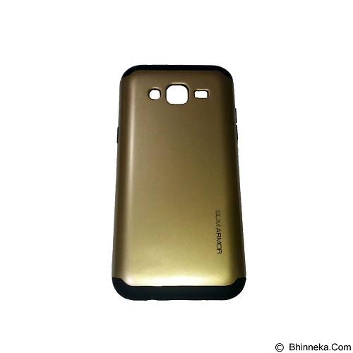 SPIGEN Slim Armor Leather/Silicon/Metal Samsung Galaxy J5 - Gold (Merchant) - Casing Handphone / Case