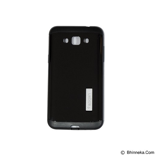 SPIGEN Slim Armor Leather/Silicon/Metal With Kick Stand Samsung Galaxy G7200 Grand 3 - Black (Merchant) - Casing Handphone / Case