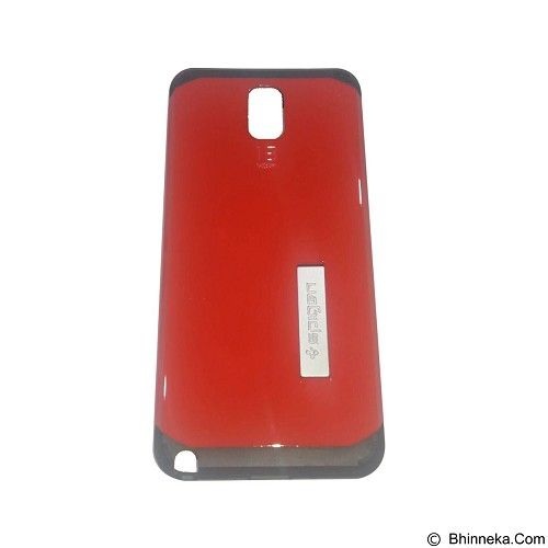 SPIGEN Slim Armor Leather/Silicon/Metal With Kick Stand Samsung Galaxy Note 3 N9000 - Red (Merchant) - Casing Handphone / Case