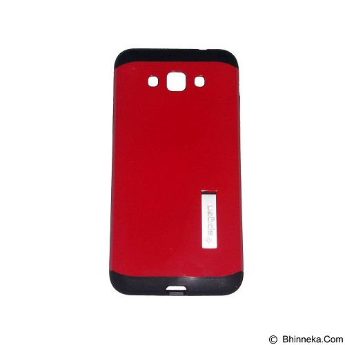 SPIGEN Slim Armor Leather/Silicon/Metal With Kick Stand Samsung Galaxy Note2 - Red (Merchant) - Casing Handphone / Case