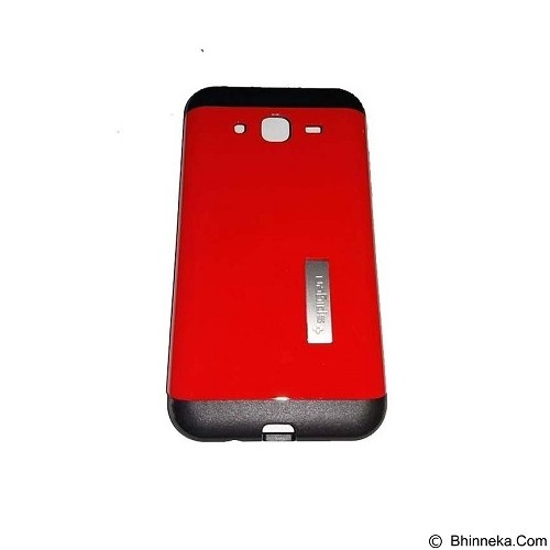 SPIGEN Slim Armor Leather/Silicon/Metal with Kick Stand Samsung Galaxy Ace 4 - Red (Merchant) - Casing Handphone / Case
