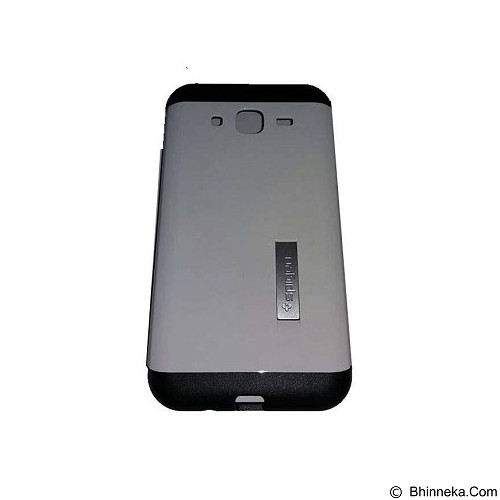 SPIGEN Slim Armor Leather/Silicon/Metal with Kick Stand Samsung Galaxy Ace 4 - White (Merchant) - Casing Handphone / Case