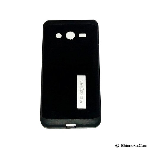 SPIGEN Slim Armor Leather/Silicon/Metal with Kick Stand Samsung Galaxy Core 2 - Black (Merchant) - Casing Handphone / Case