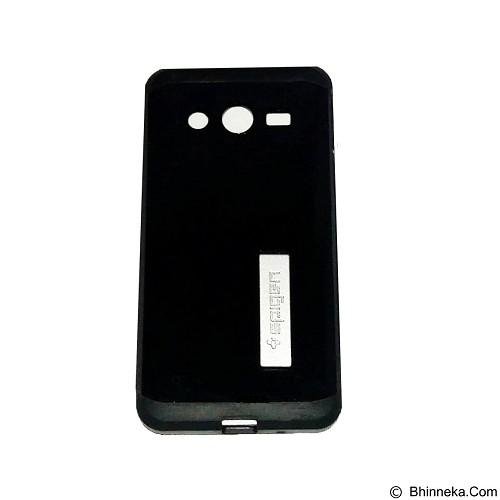 SPIGEN Slim Armor Leather/Silicon/Metal with Kick Stand Samsung Galaxy Core 2 - Black (Merchant) - Casing Handphone / Case