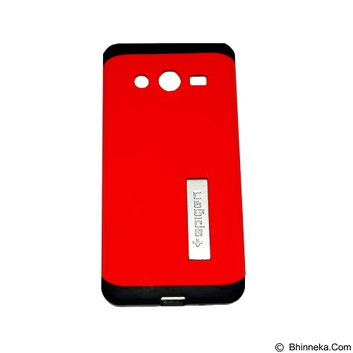 SPIGEN Slim Armor Leather/Silicon/Metal with Kick Stand Samsung Galaxy Core 2 - Red (Merchant) - Casing Handphone / Case