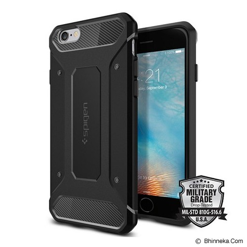 SPIGEN iPhone 6S Case Capsule Ultra Rugged [SGP11597] - Black (Merchant) - Casing Handphone / Case