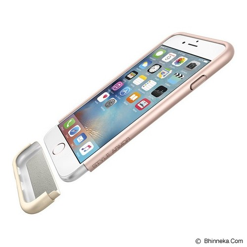 SPIGEN iPhone 6S Case Style Armor [SGP11724] - Rose Gold - Casing Handphone / Case