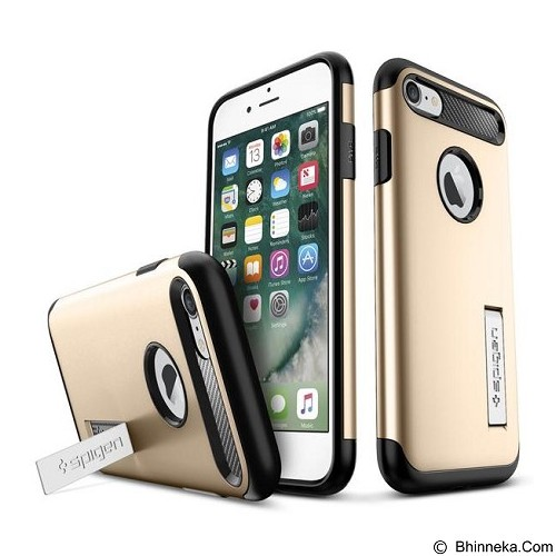 SPIGEN iPhone 7 Case Slim Armor [042CS20302] - Champagne Gold - Casing Handphone / Case