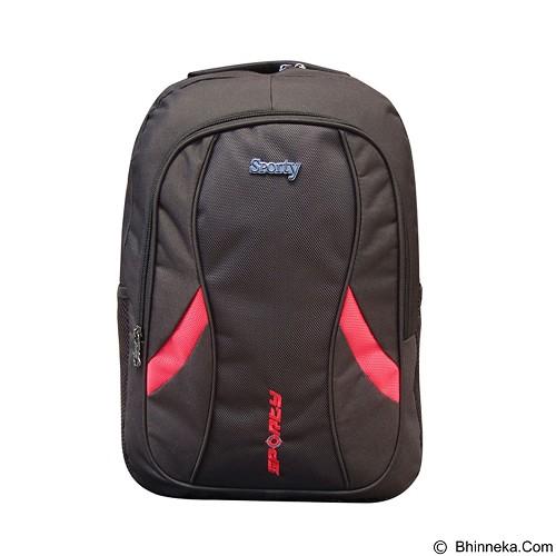 SPORTY Tas Ransel Sekolah [229c] - Red (Merchant) - Tas Punggung Sport/Backpack