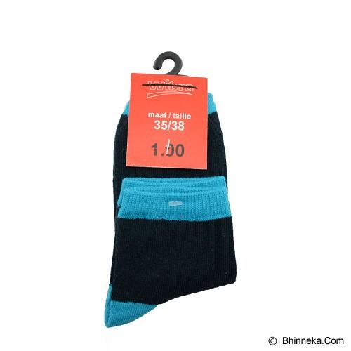 SSLAND Children Angkle Socks - Dark Navy & Blue (V) - Kaos Kaki Bayi dan Anak