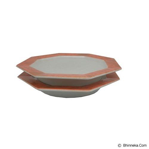 SSLAND Colour Plate Square Japan [I-PLATE-041] - Orange (V) - Piring Makan