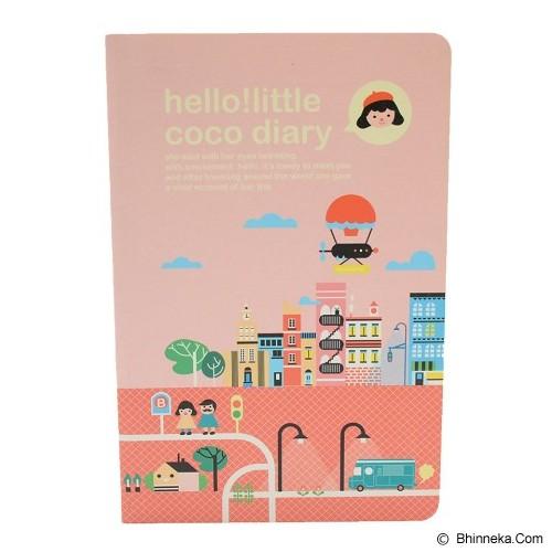 SSLAND Hello Little Coco Diary 16cm [5360] - Peach (V) - Buku Catatan / Journal