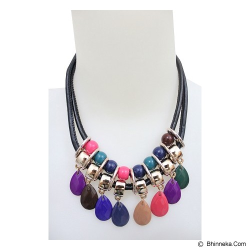 SSLAND Ruby Necklace [AG025] - Colorful (V) - Kalung / Necklace