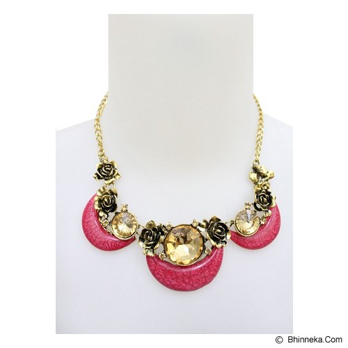 SSLAND Stone Jade Necklace [AG072] - Red (V) - Kalung / Necklace