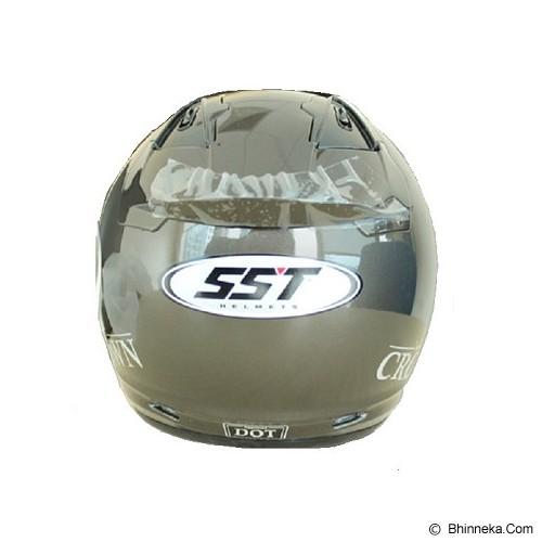 SST Helmet All Size - Dark Grey - Helm Motor Half Face