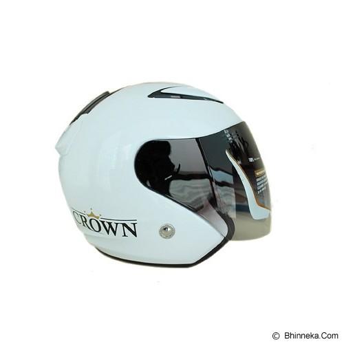 SST Helmet All Size - White - Helm Motor Half Face