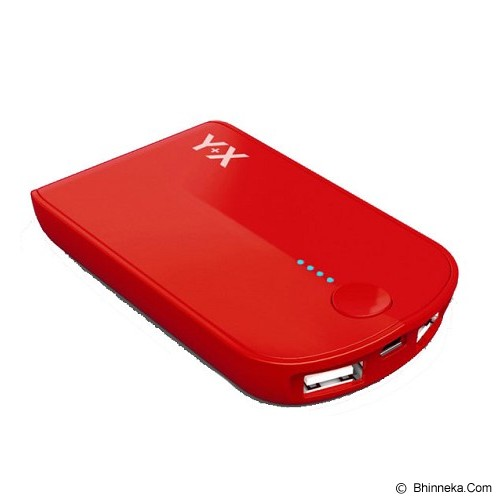 ST-VANILLA STORE Powerbank Y+X 3000mAh [PB009] - Red - Portable Charger / Power Bank