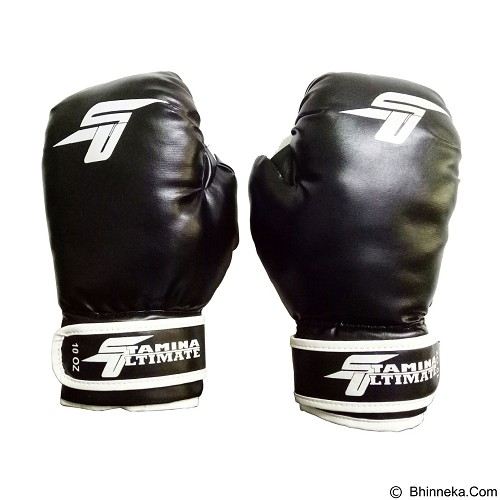 STAMINA Boxing Gloves 8 oz [ST-303-08BK] - Black - Other Exercise