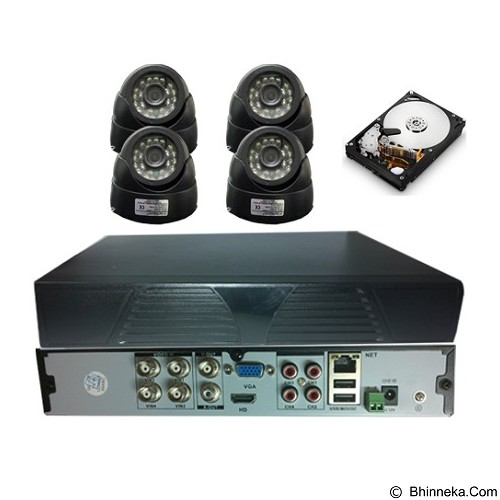 STARCOM Paket CCTV 4 Channel 4 Camera Indoor + HDD [PK-4CAM-I-6014] - CCTV Camera