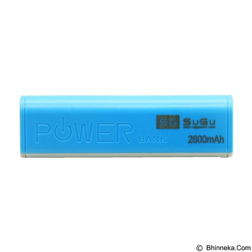 SUGU Powerbank 2600 mAh - Blue (Merchant) - Portable Charger / Power Bank