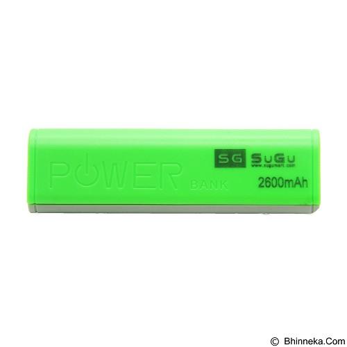 SUGU Powerbank 2600 mAh - Green (Merchant) - Portable Charger / Power Bank