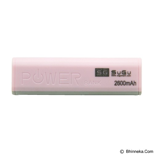 SUGU Powerbank 2600 mAh - Pink (Merchant) - Portable Charger / Power Bank