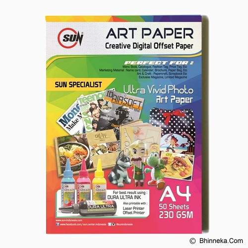 SUN Art Paper A4 230 Gsm - Kertas Foto / Photo Paper