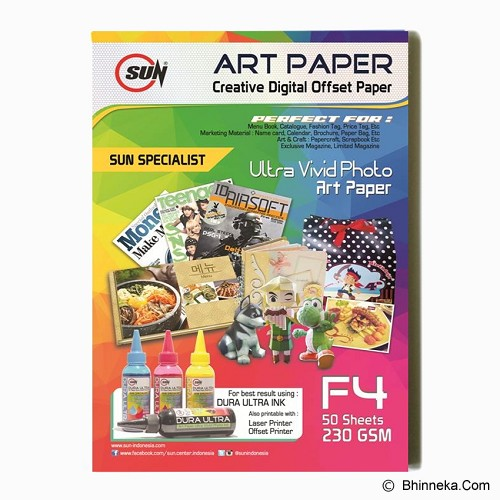 SUN Art Paper F4 230 Gsm - Kertas Foto / Photo Paper