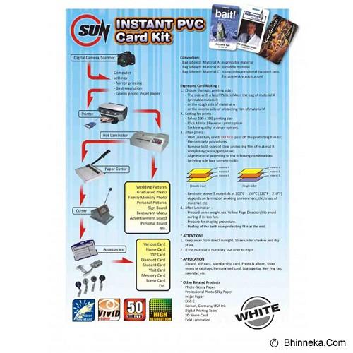 SUN PVC ID Card 0.76 - White - Blank Id