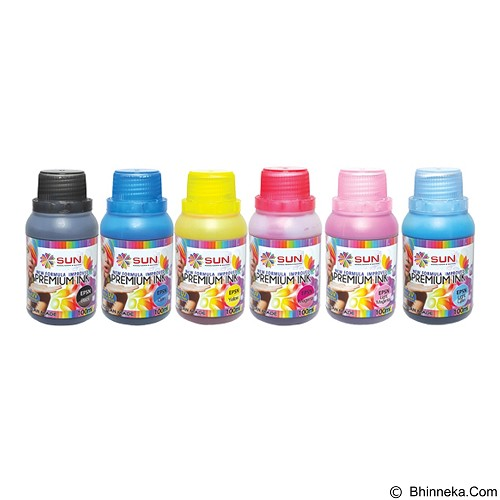 SUN Tinta Epson Premium Ink NFI 100 ml - Set 6 Warna - Tinta Printer Refill