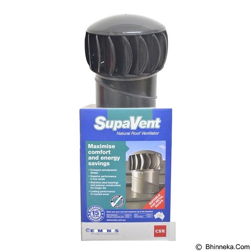 SUPAVENT Natural Roof Ventilator [SV2] - Black (Merchant) - Turbine Ventilator