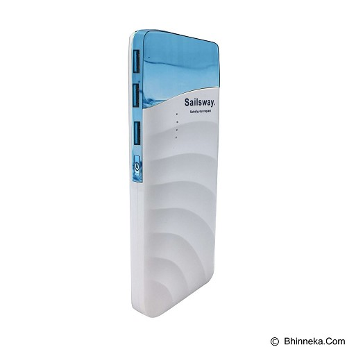 Sailsway Power Bank 10000mAh [SWP607] - Blue (Merchant) - Portable Charger / Power Bank
