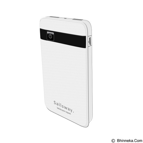 Sailsway Power Bank 8000mAh [SWP605] - White (Merchant) - Handphone Battery