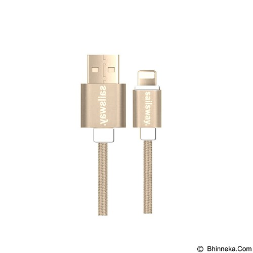 Sailsway Quick Double Cable for Apple iPhone 100CM [SWL06] - Brown (Merchant) - Cable / Connector Usb