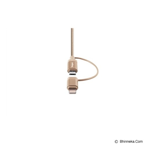 TARGUS Aluminium Series 2-in-1 Lightning & Micro USB Cable [ACC99507AP-50] - Gold - Cable / Connector Usb