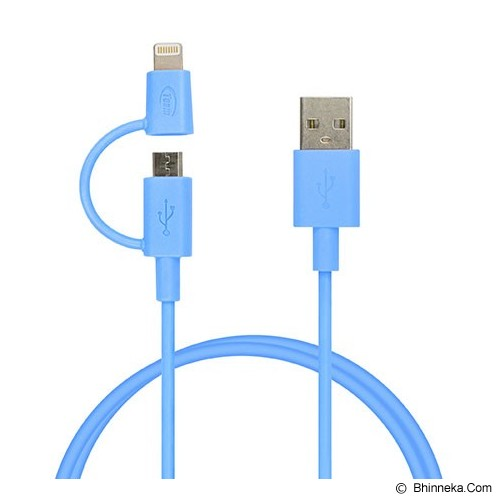 TEAM WC02 2 in 1 Lightning Cable [TWC02L01] - Blue - Cable / Connector Usb