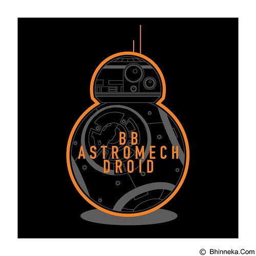 TEES.CO.ID Star Wars BB-8 Astro Droid Size M - Kaos Pria