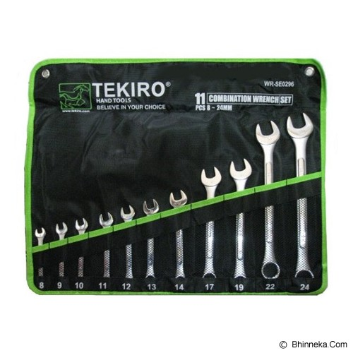 TEKIRO Kunci Ring Pas Set 11 Pcs (8-24mm) WR-SE0296