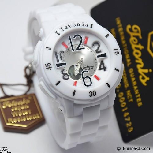 TETONIS T2299 White DualTime - White - Jam Tangan Wanita Fashion