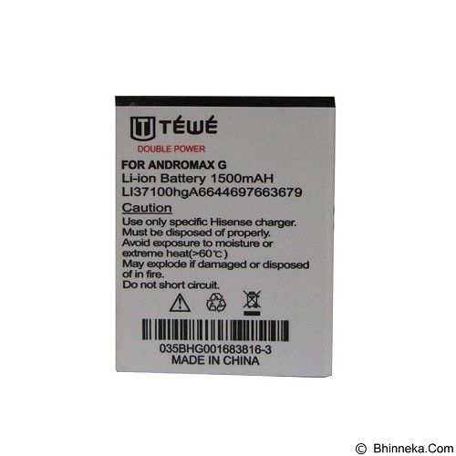 TEWE Battery for Smartfren Andromax G 1500mAh - Handphone Battery