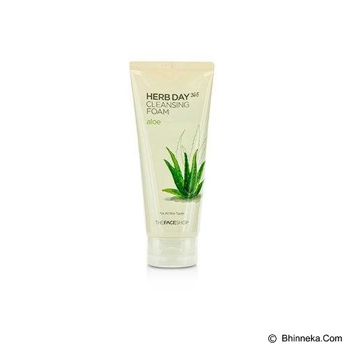 THE FACE SHOP Herb365  Cleansing Foam Aloe 170ml (Merchant) - Pembersih dan Penyegar Wajah