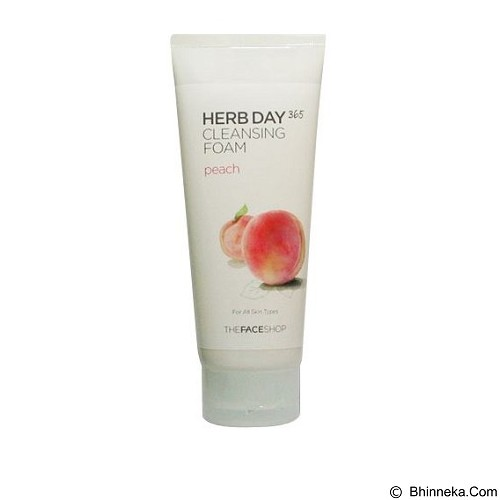 THE FACE SHOP Herb365  Cleansing Foam Peach 170ml (Merchant) - Pembersih dan Penyegar Wajah