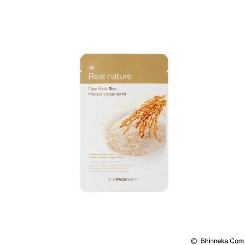 THE FACE SHOP Natural Mask Rice (Merchant) - Masker Wajah