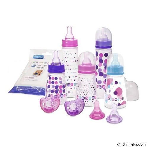 THE FIRST YEARS Paket Botol dan Dot Bayi Gumdrop Stater Set [Y4894 ] - Purple Pink - Botol Susu
