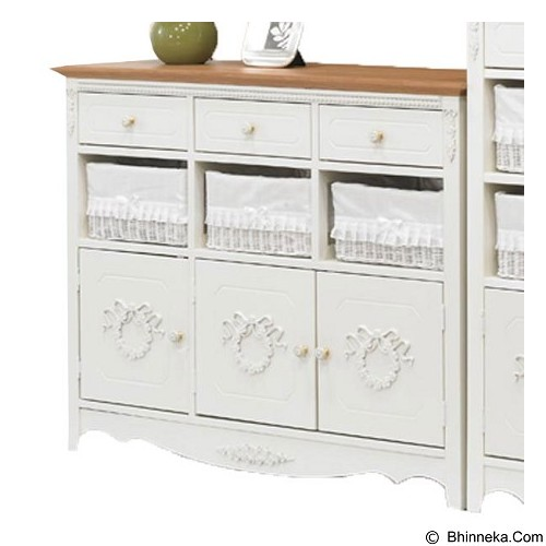 THE OLIVE HOUSE Lemari Rosemary 9 Susun - Top Oak (Merchant) - Drawer