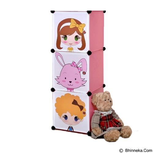 THREE HORSES Lemari Anak Anak Lucu DIY Creative Home Storage Cabinet Simple Cabinet (Merchant) - Rak Serbaguna