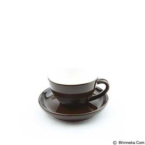 TIAMO Porcelain Cup 200 ml [YM2058] - Brown (Merchant) - Gelas