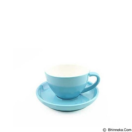 TIAMO Porcelain Cup 200 ml [YM2061] - Blue (Merchant) - Gelas