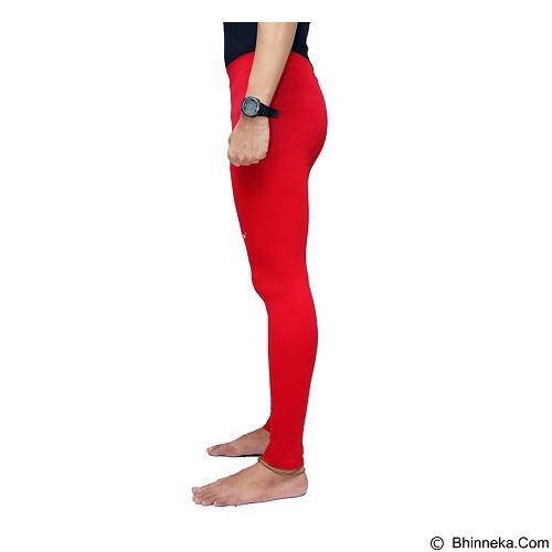 TIENTO Baselayer Manset Rashguard Compression Long Pants Size L - Red White (Merchant) - Celana Olahraga Pria